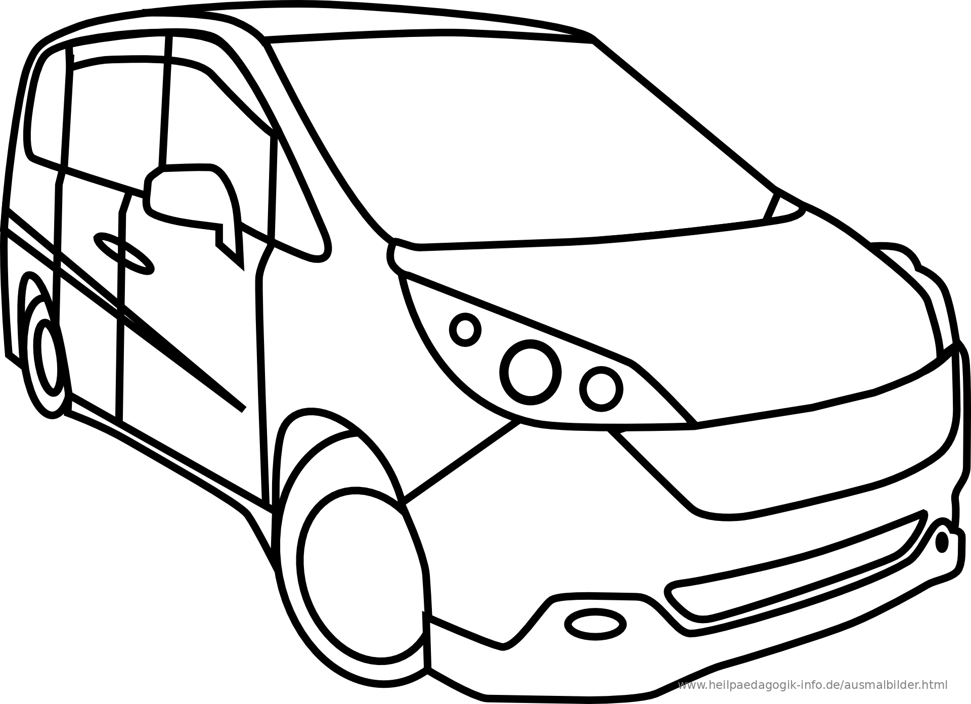 malvorlagen autos zum ausdrucken