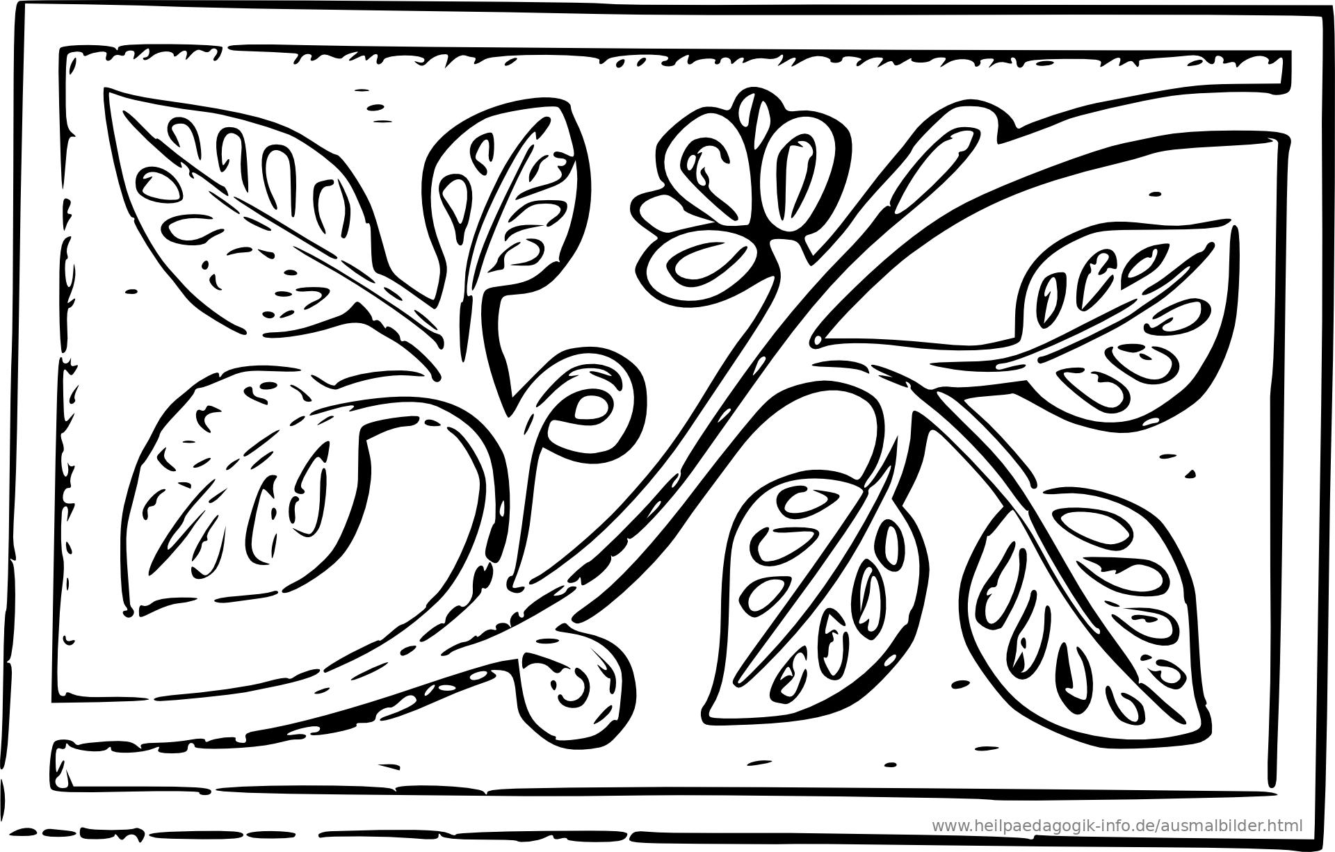 malvorlagen blumen ornamente