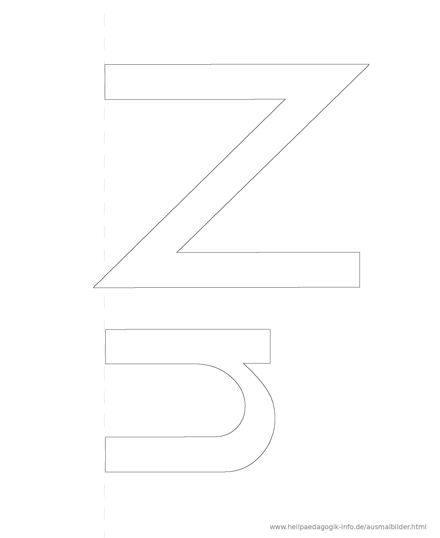 Ausmalbilder Buchstaben