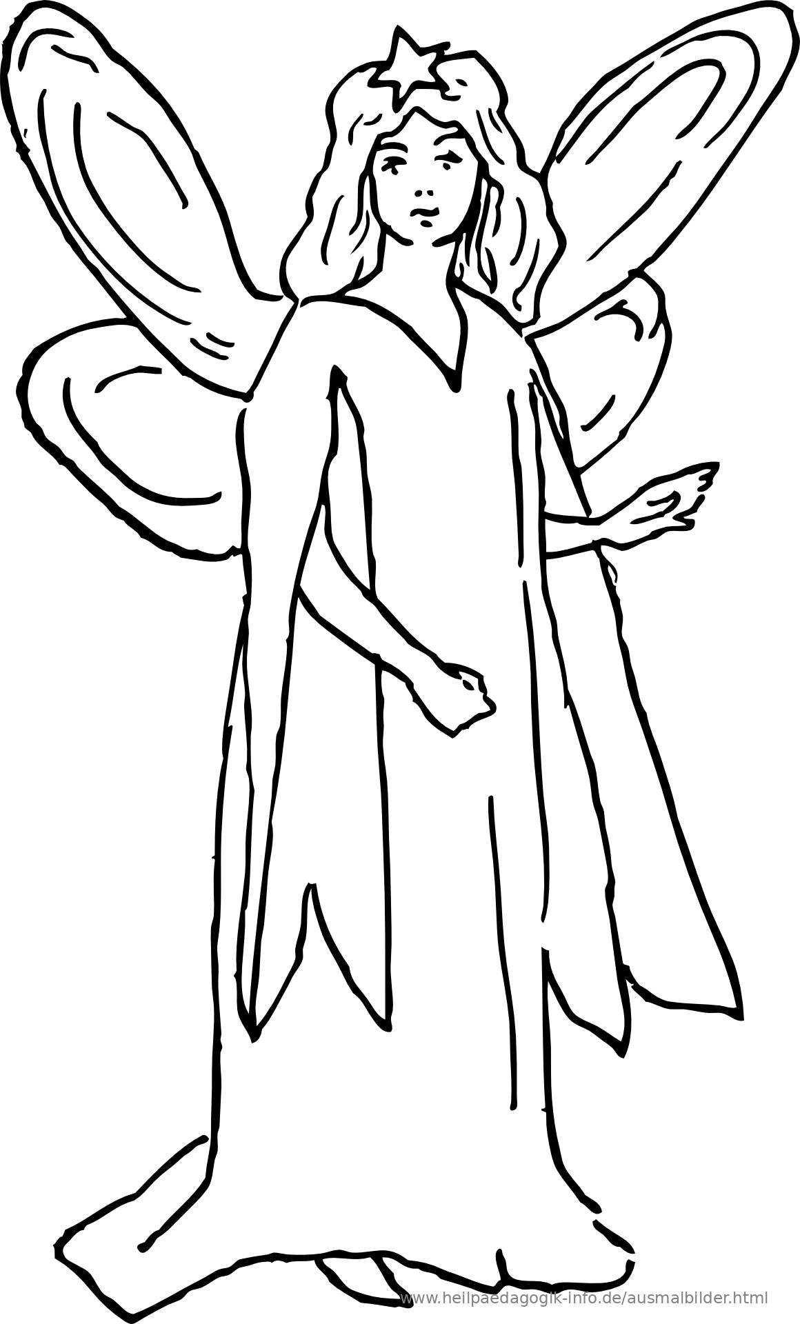 ausmalbild fee pdf  kinder ausmalbilder