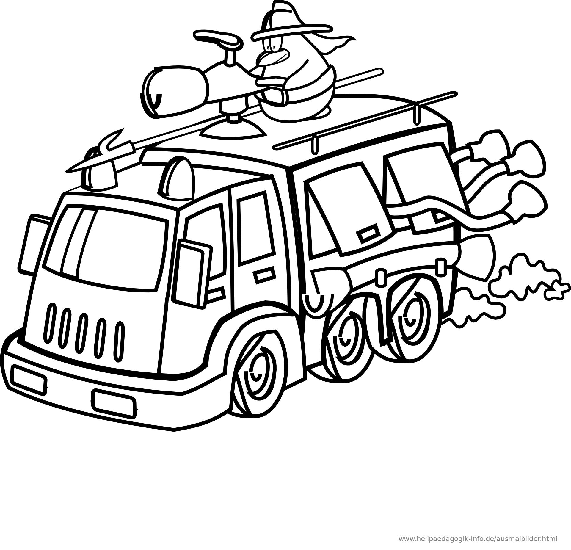 Ausmalbilder Feuerwehr, Krankenwagen, Polizei