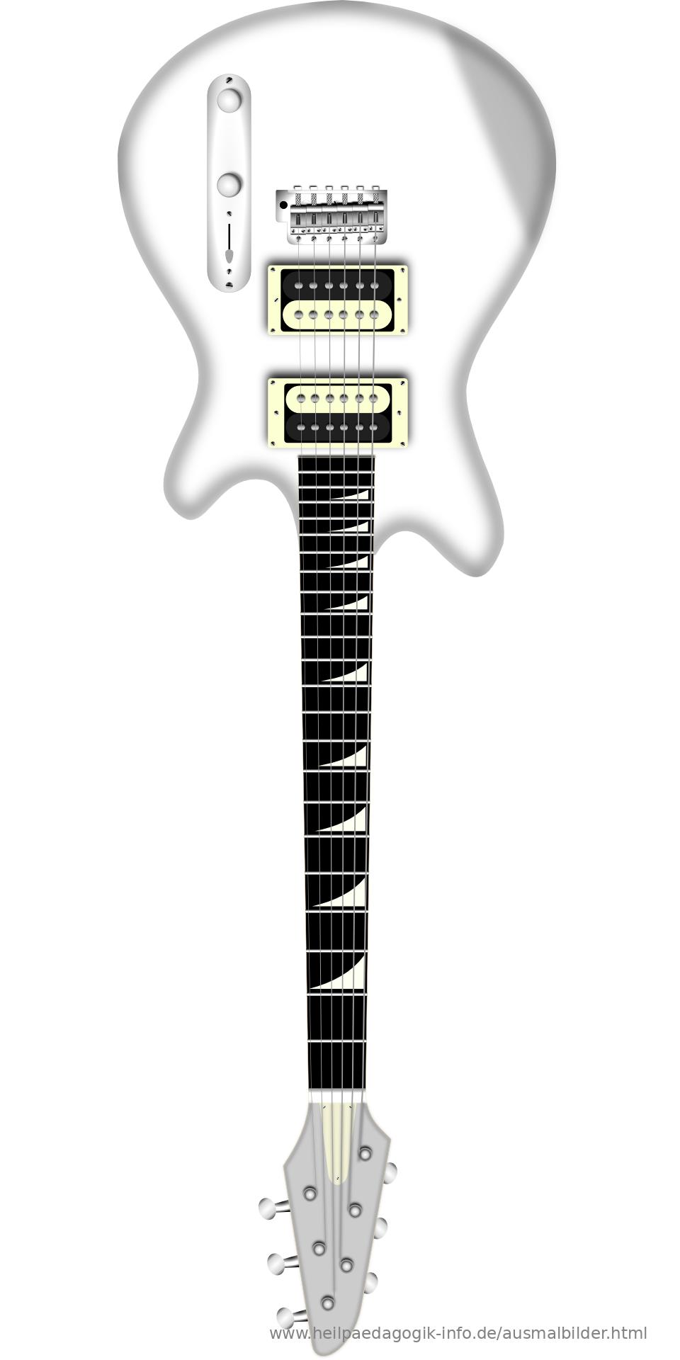 gitarre malvorlage
