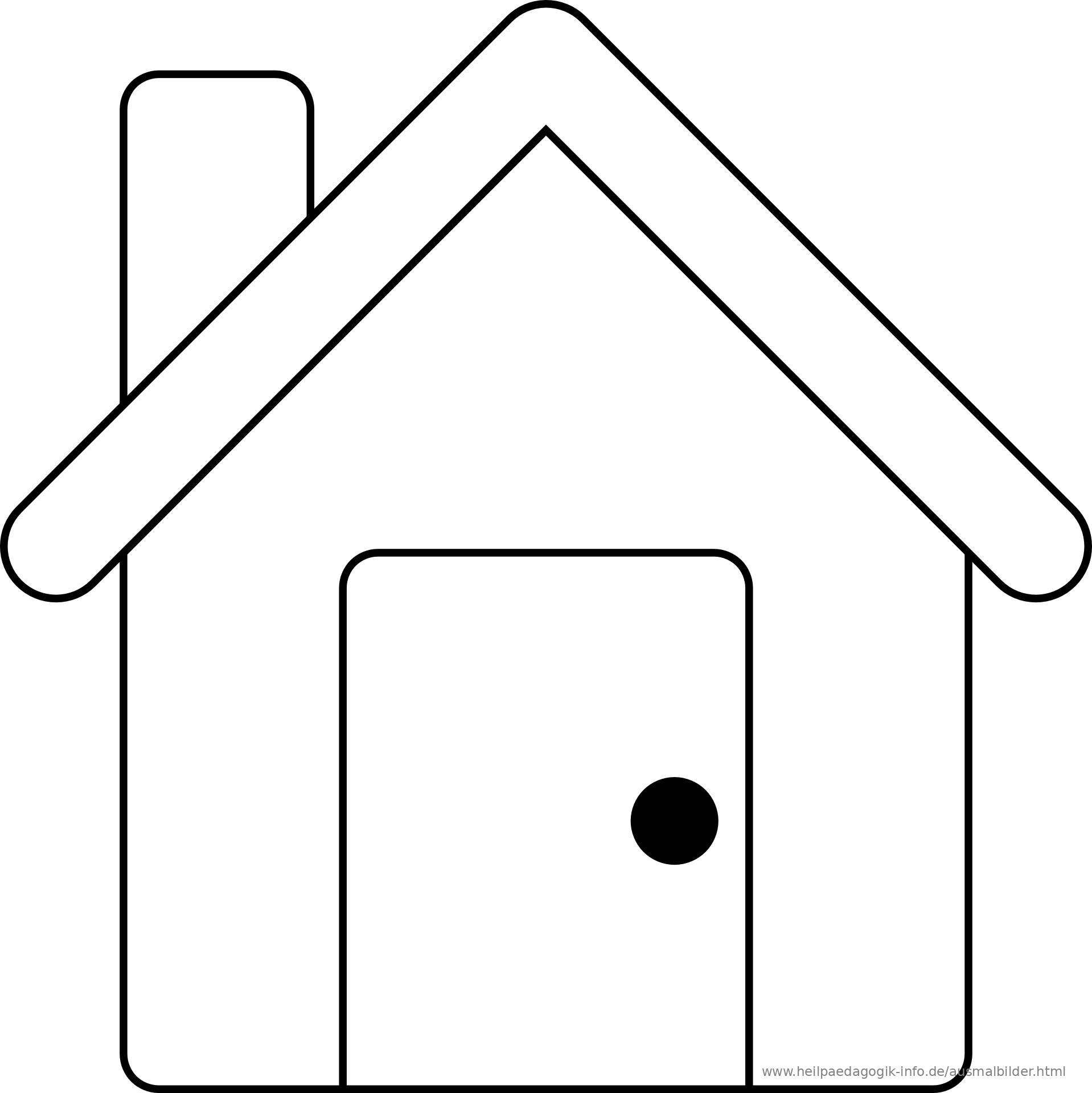 Ausmalbilder Hauser Und Gebaude
