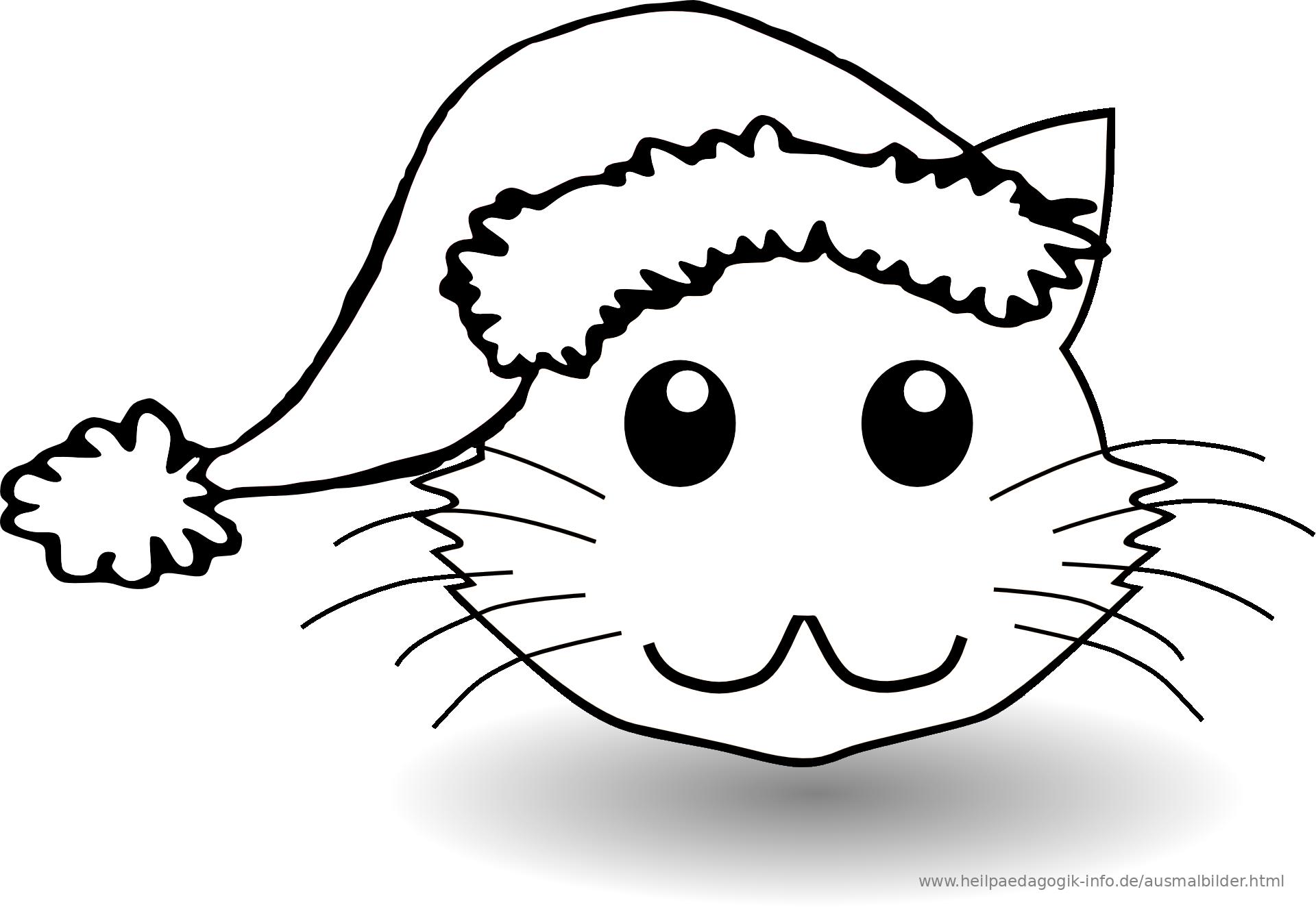 malvorlage katze hund  kinder zeichnen und ausmalen