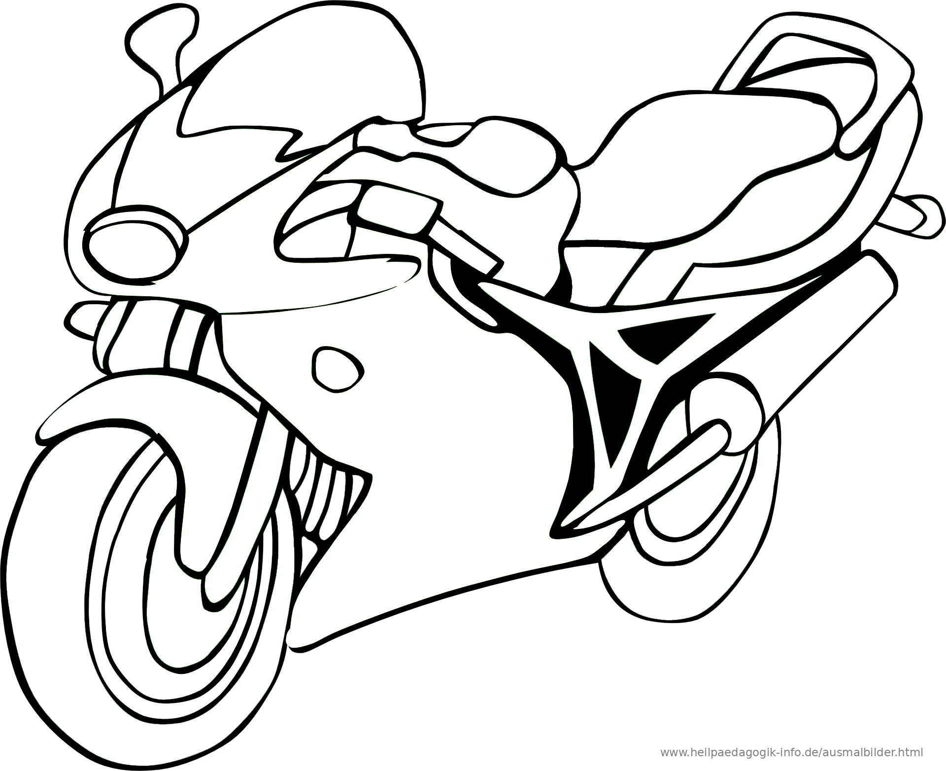Ausmalbilder Fahrräder und Motorräder