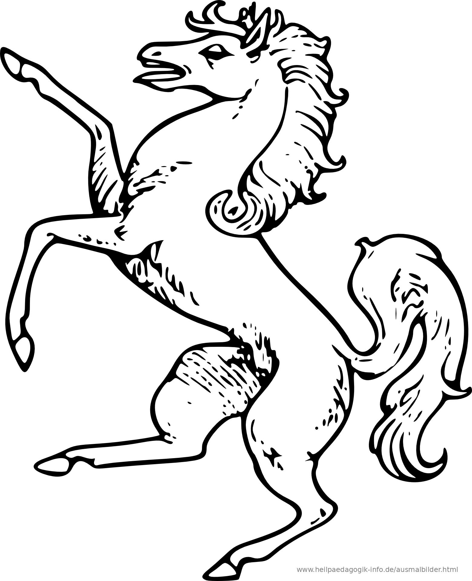 ausmalbilder pferde pdf