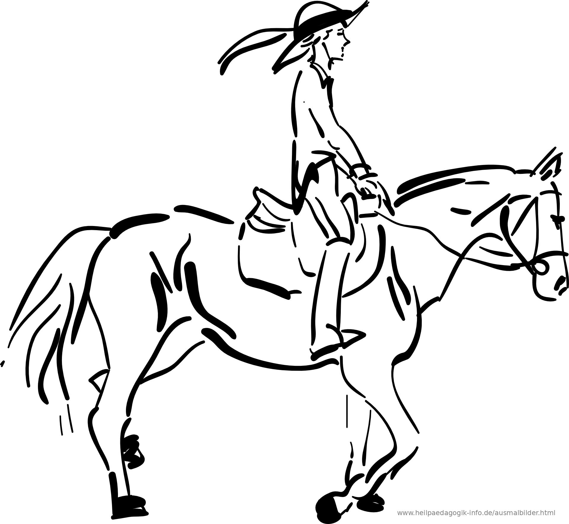 39 ausmalbild pferd mit reiterin - besten bilder von