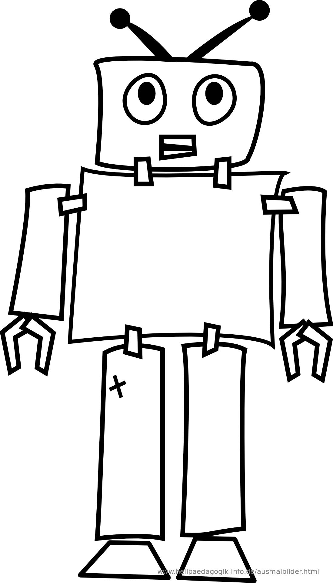 ausmalbilder roboter kostenlos  kinder zeichnen und ausmalen