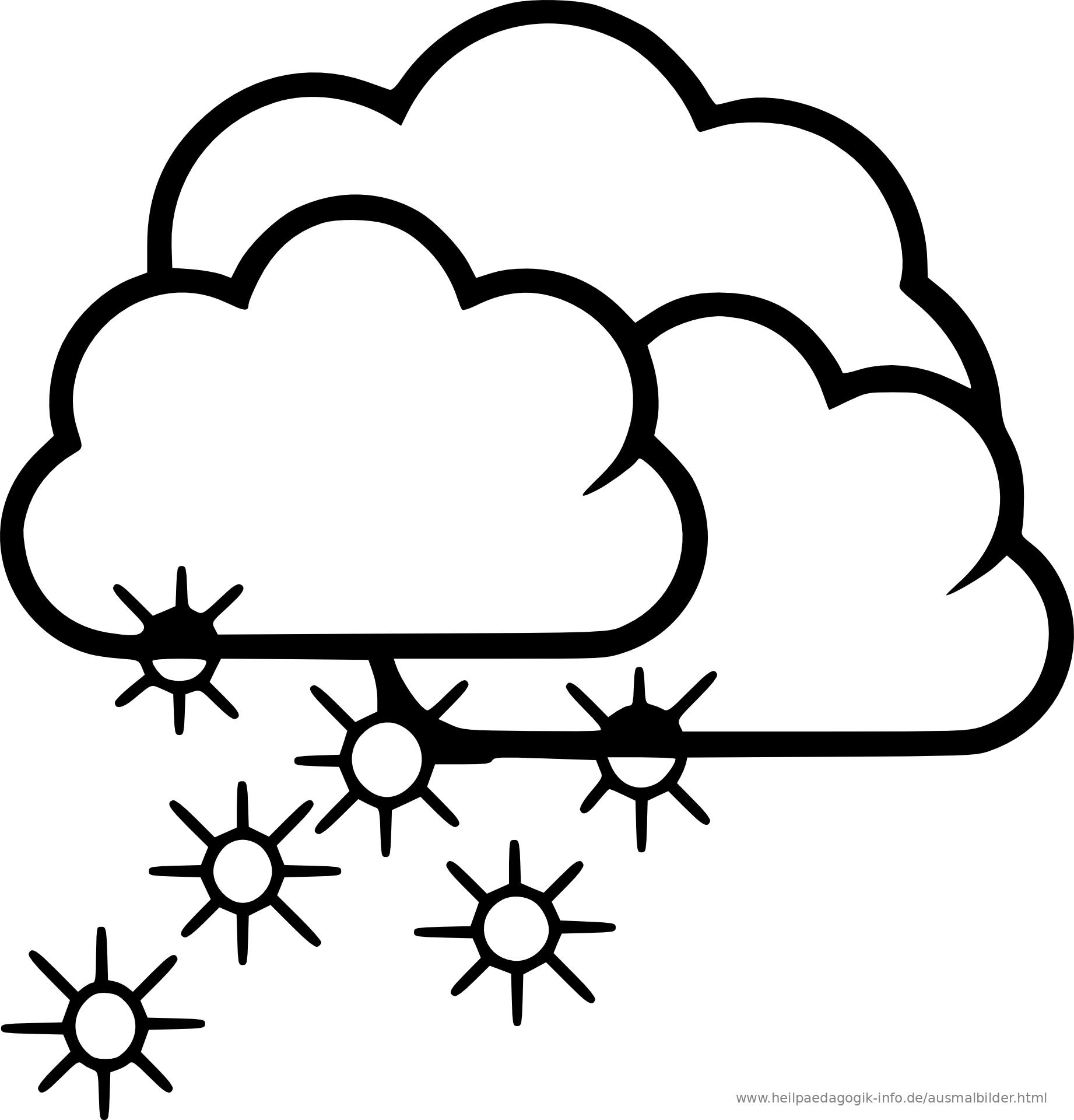 Ausmalbilder Winter Und Schnee