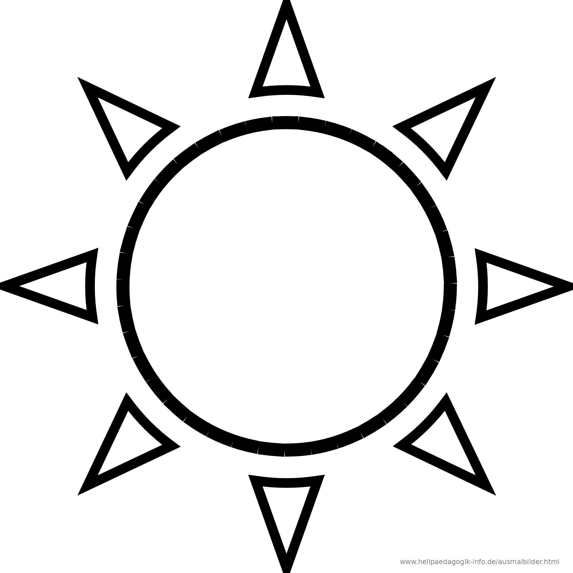 Ausmalbilder Sonne