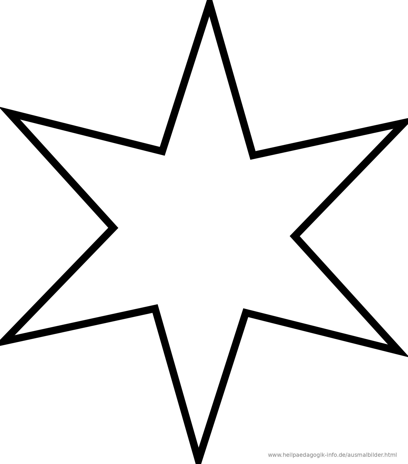 Ausmalbilder Sterne