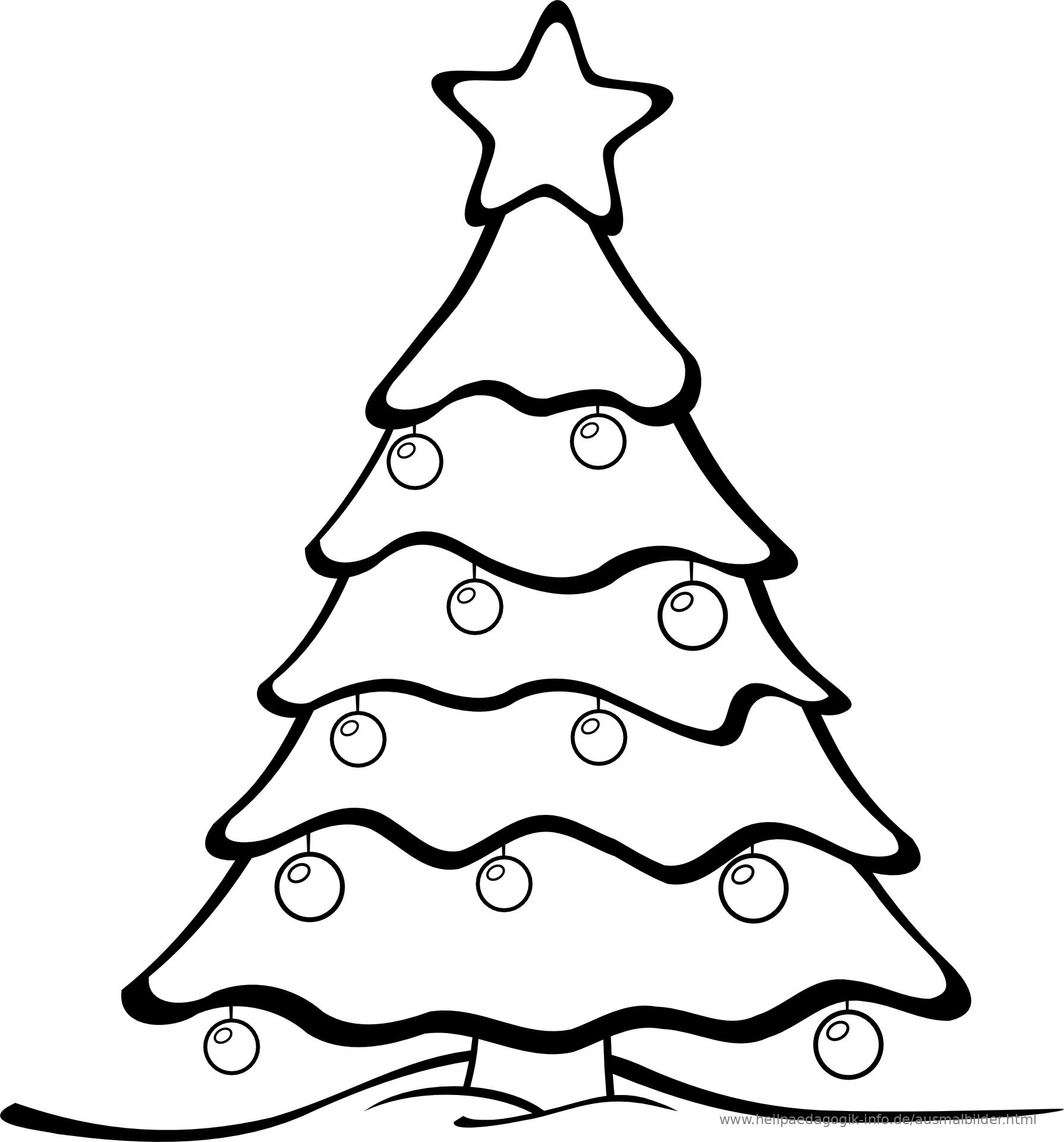 14 Malvorlagen Weihnachten Tannenbaum - Besten Bilder von ausmalbilder