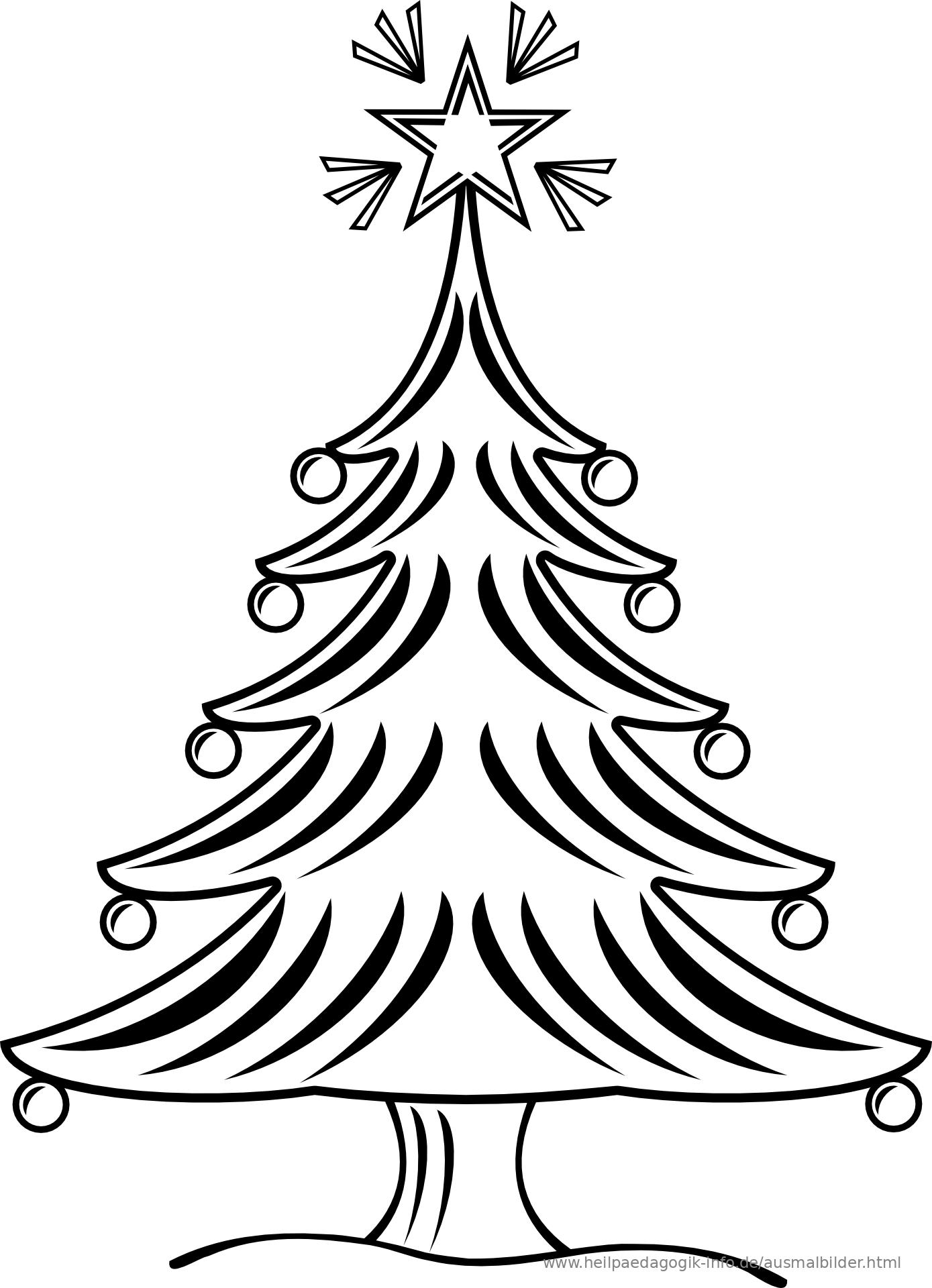 8 Weihnachtsbäume Zum Ausmalen - Besten Bilder von ausmalbilder