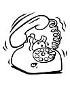 Ausmalbild Malvorlage Telefon