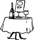 Ausmalbild Malvorlage Tisch