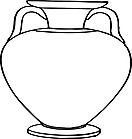 Ausmalbild Malvorlage Vase / Krug