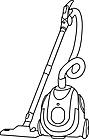 Ausmalbild Malvorlage Staubsauger