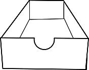Ausmalbild Malvorlage Pappschachtel