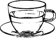 Ausmalbild Malvorlage Tasse