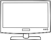 Ausmalbild Malvorlage Bildschirm