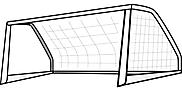 Ausmalbild Malvorlage Tor / Fußballtor