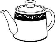 Ausmalbild Malvorlage Teekanne