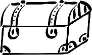 Ausmalbild Malvorlage Schatztruhe