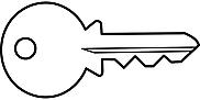 Ausmalbild Malvorlage Schlüssel