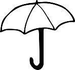 Ausmalbild Malvorlage Regenschirm