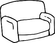 Ausmalbild Malvorlage Sofa