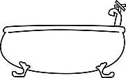 Ausmalbild Malvorlage Badewanne