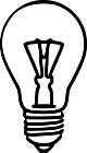 Ausmalbild Malvorlage Glühlampe