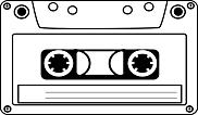 Ausmalbild Malvorlage Musikkassette
