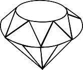 Ausmalbild Malvorlage Diamant