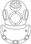 Ausmalbild Malvorlage Tauchermaske