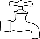 Ausmalbild Malvorlage Wasserhahn