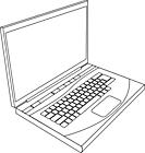 Ausmalbild Malvorlage Laptop