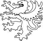 Ausmalbild Malvorlage Löwe als Wappen