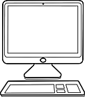Ausmalbild Malvorlage Monitor