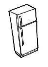 Ausmalbild Malvorlage Kühlschrank