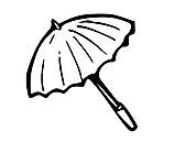 Ausmalbild Malvorlage Sonnenschirm / Regenschirm