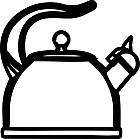 Ausmalbild Malvorlage Teekessel