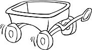 Ausmalbild Malvorlage Bollerwagen