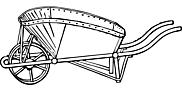 Ausmalbild Malvorlage Schubkarre