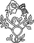 Ausmalbild Malvorlage Rose Distel