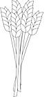 Ausmalbild Malvorlage Weizen