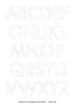 Ausmalbild Malvorlage Alle Buchstaben groß
