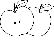 Ausmalbild Malvorlage Apfel