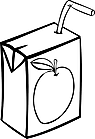 Ausmalbild Malvorlage Trinkpäckchen