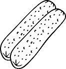 Ausmalbild Malvorlage Würstchen